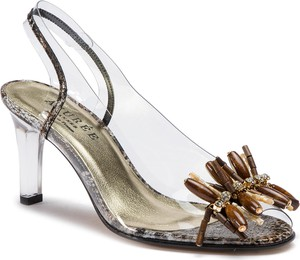 Sandały Azurée ze skóry na słupku
