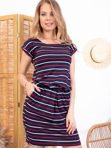 Sukienka Grandio mini z dresówki z krótkim rękawem