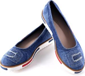 Niebieskie baleriny calzado