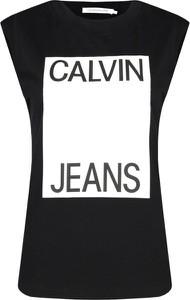 Top Calvin Klein z krótkim rękawem z okrągłym dekoltem