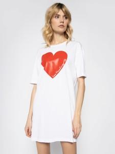 Sukienka Love Moschino mini z okrągłym dekoltem
