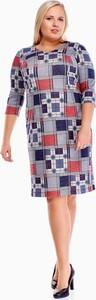 Sukienka Fokus z długim rękawem w stylu casual z okrągłym dekoltem