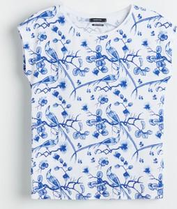Niebieski t-shirt Reserved w stylu casual