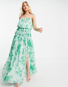 Zielona sukienka Asos maxi bez rękawów hiszpanka