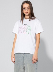 T-shirt LOCAL HEROES z okrągłym dekoltem w młodzieżowym stylu z bawełny
