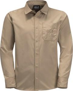 Brązowa koszula dziecięca Jack Wolfskin z tkaniny