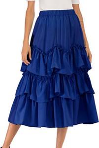 Niebieska spódnica Cikelly midi