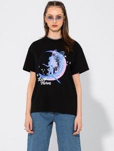 Czarny t-shirt LOCAL HEROES z okrągłym dekoltem z krótkim rękawem