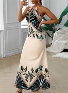 Sukienka Sandbella maxi na ramiączkach w stylu boho