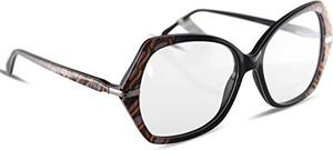 Emilio Pucci tworzywo sztuczne okulary damskie okulary okulary brzmienie stelaż ep5039 czarne ze wzorem