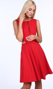 Sukienka Fasardi midi z okrągłym dekoltem bez rękawów