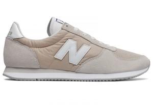 Buty New Balance z płaską podeszwą ze skóry sznurowane