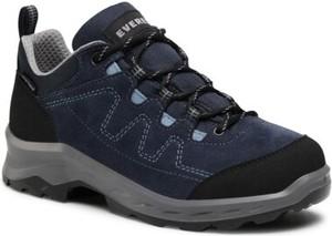 Granatowe buty sportowe Everest z płaską podeszwą sznurowane