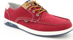 Czerwone buty sportowe American Club sznurowane