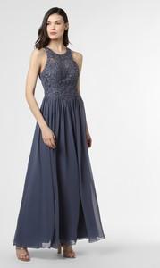 Niebieska sukienka Laona z szyfonu