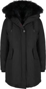 Czarny płaszcz Canadian Classics w stylu casual