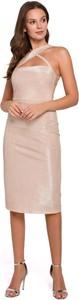 Sukienka Makover bez rękawów midi z tkaniny