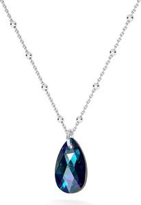 GIORRE ZŁOCONY NASZYJNIK Z KRYSZTAŁEM SWAROVSKIEGO MIGDAŁ : Kolor kryształu SWAROVSKI - Crystal BBL, Kolor pokrycia srebra - Pokrycie Jasnym Rodem