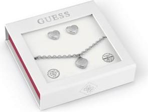 Guess Box Set Bransoletka I Kolczyki Z Sercem Z Logo