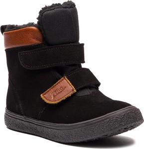 Brązowe buty dziecięce zimowe Zarro