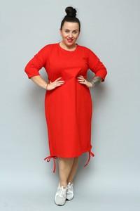 Sukienka KARKO ołówkowa z dresówki z długim rękawem
