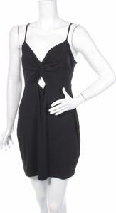 Czarna sukienka Asos mini z dekoltem w kształcie litery v
