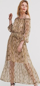 Sukienka Reserved z długim rękawem maxi