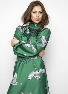 Sukienka Freeshion z golfem z tkaniny mini