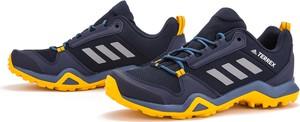 Niebieskie buty sportowe Adidas sznurowane z goretexu