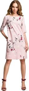 Sukienka MOE z krótkim rękawem z okrągłym dekoltem