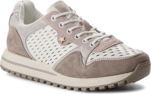 Brązowe buty sportowe wrangler z płaską podeszwą