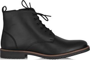 Buty zimowe Ochnik ze skóry sznurowane