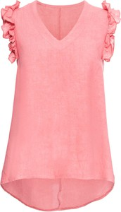Bluzka bonprix BODYFLIRT w stylu casual z dekoltem w kształcie litery v z krótkim rękawem