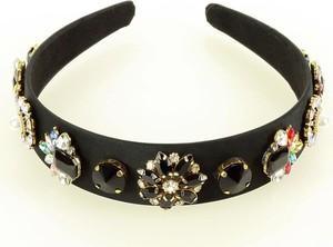 Gk-Style Elegancka ozdoba opaska na włosy diadem tiara czarna MAZZINI