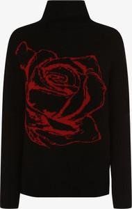 Czarny sweter comma, z wełny