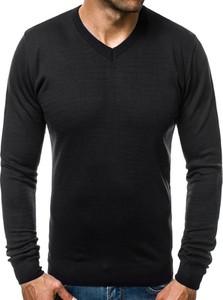 Czarny sweter ozonee.pl w stylu casual z wełny