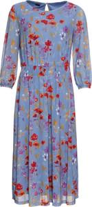 Niebieska sukienka bonprix BODYFLIRT z okrągłym dekoltem