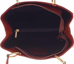 Czerwona torebka GENUINE LEATHER na ramię ze skóry