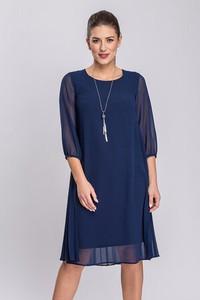 Sukienka Semper z okrągłym dekoltem z tkaniny oversize