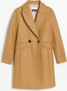Płaszcz Reserved w stylu casual z wełny