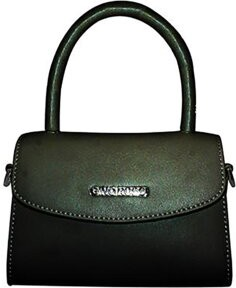 Czarna torebka Gino Rossi ze skóry na ramię