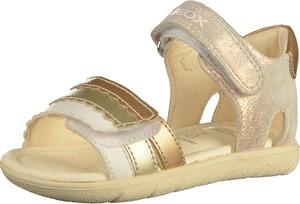 Buty dziecięce letnie Geox na rzepy ze skóry