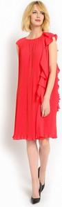 Czerwona sukienka potis & verso bez rękawów