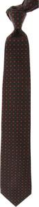 Brązowy krawat Marinella z jedwabiu w stylu boho