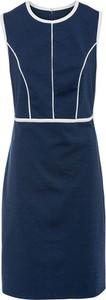 Niebieska sukienka bonprix z dżerseju bez rękawów