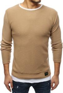 Brązowy sweter Dstreet z tkaniny