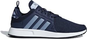 Niebieskie buty sportowe Adidas z tkaniny