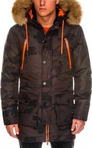 Brązowa kurtka Ombre Clothing