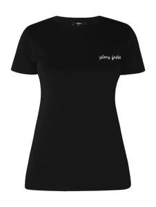 Czarna bluzka Tigha z krótkim rękawem