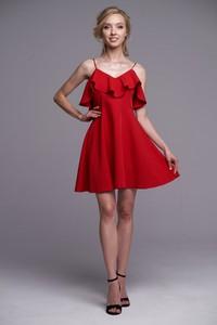 Czerwona sukienka Ella Boutique mini